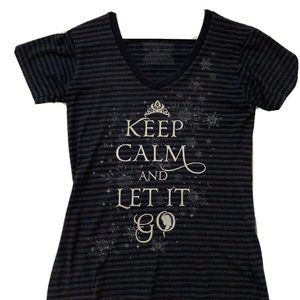 Disney Store Frozen Keep Calm And Let It Go Shirt